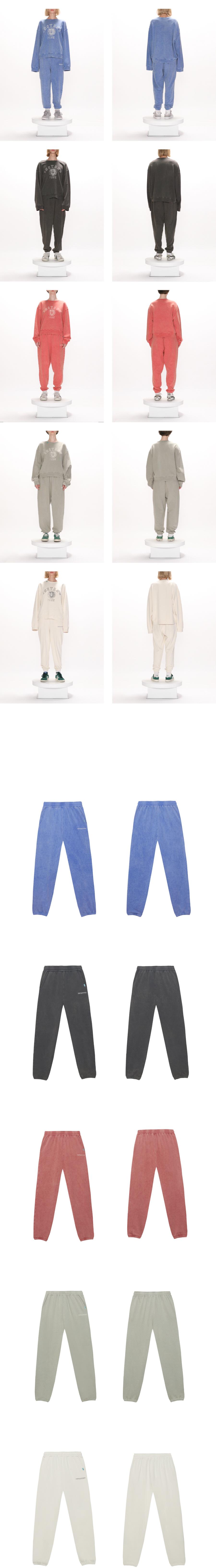 인스턴트펑크(INSTANTFUNK) 21FW 피그먼트 스탠다드 스웨트 팬츠 - 블루